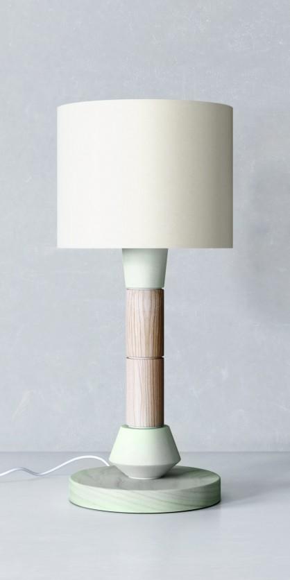 Nachttischlampe im Art Déco Stil