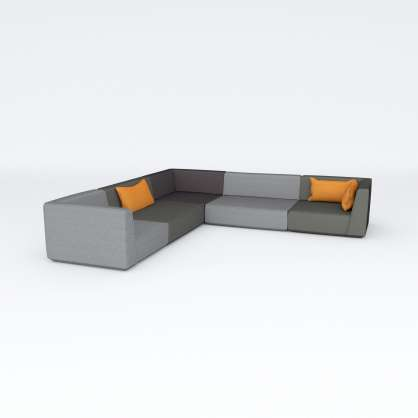 Puristisches Ecksofa in L–Form