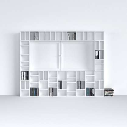 Système d étagères modulaire blanc