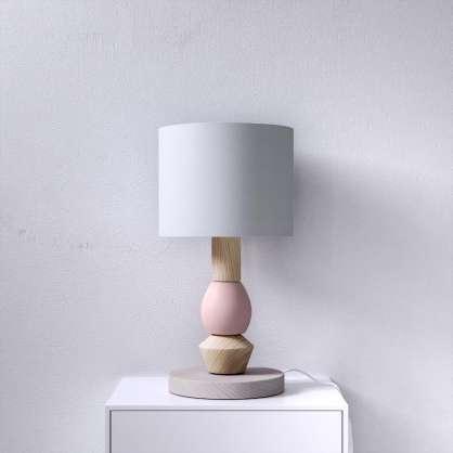Nachttischlampe aus Holz