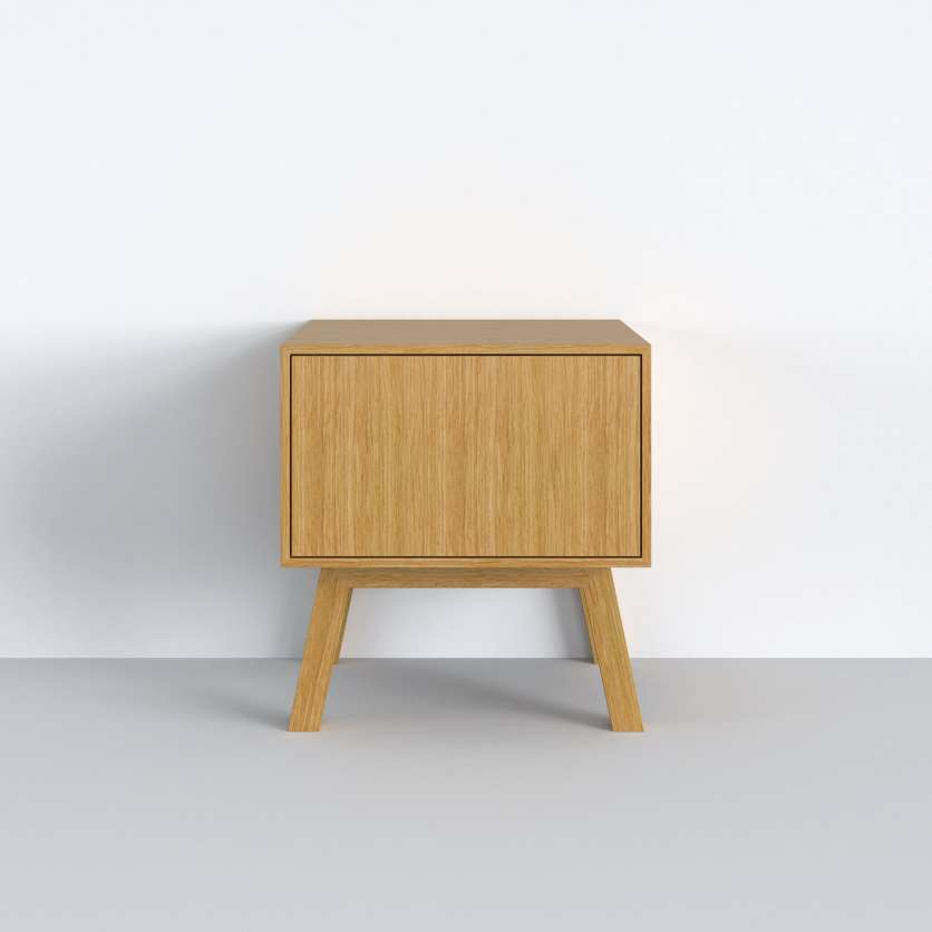 Mini–Sideboard in hellem Holz