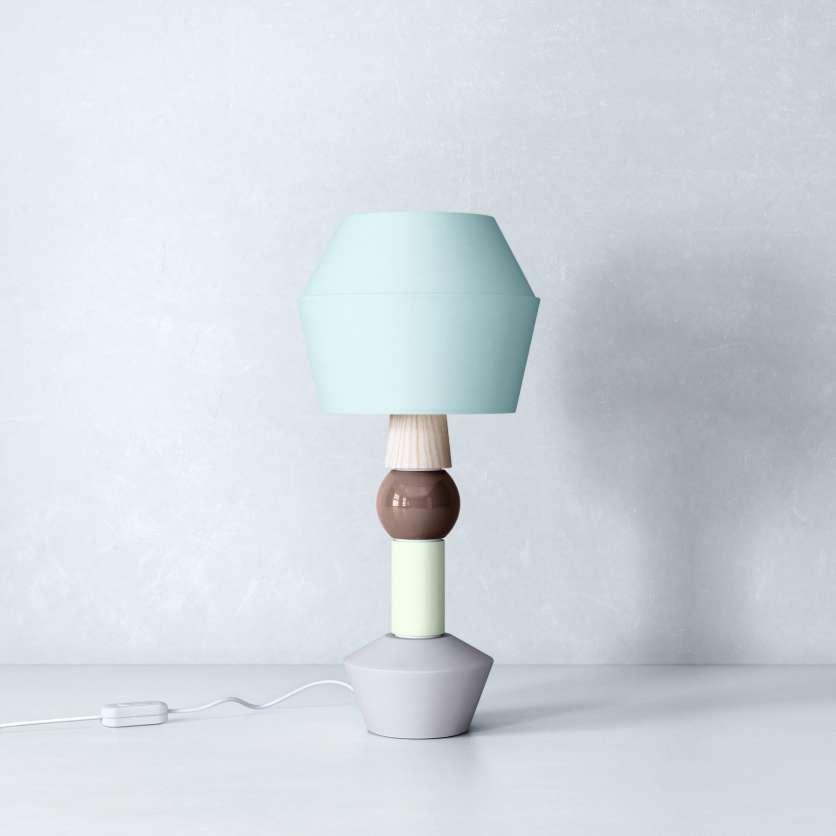 Lampe de table avec abat-jour bleu ciel