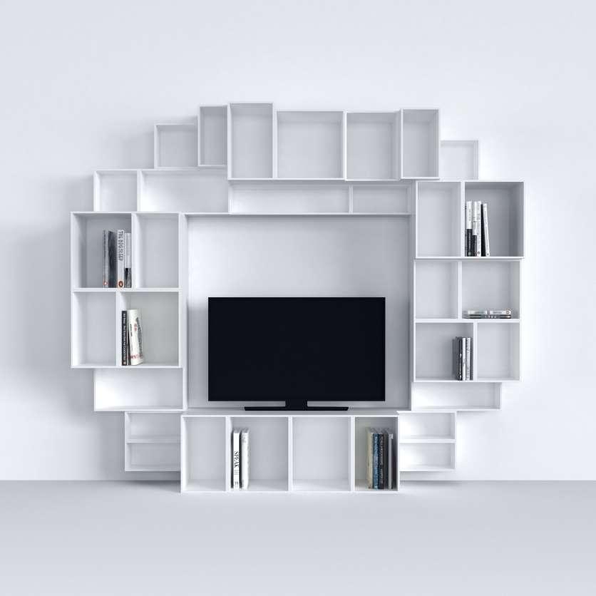 Multimedia unit in white