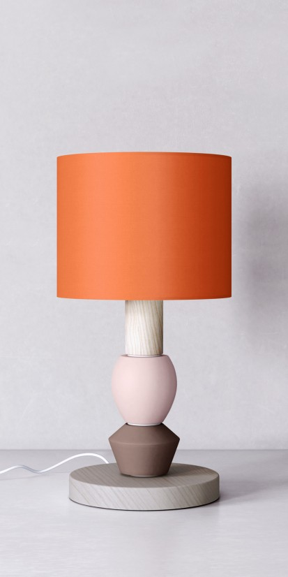 Bedside lamp with gaudy lampshade