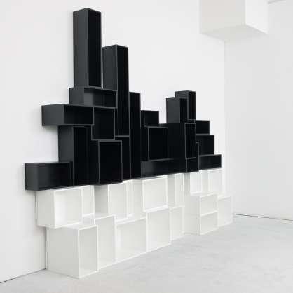 Bibliothèque cube originale noir et blanc
