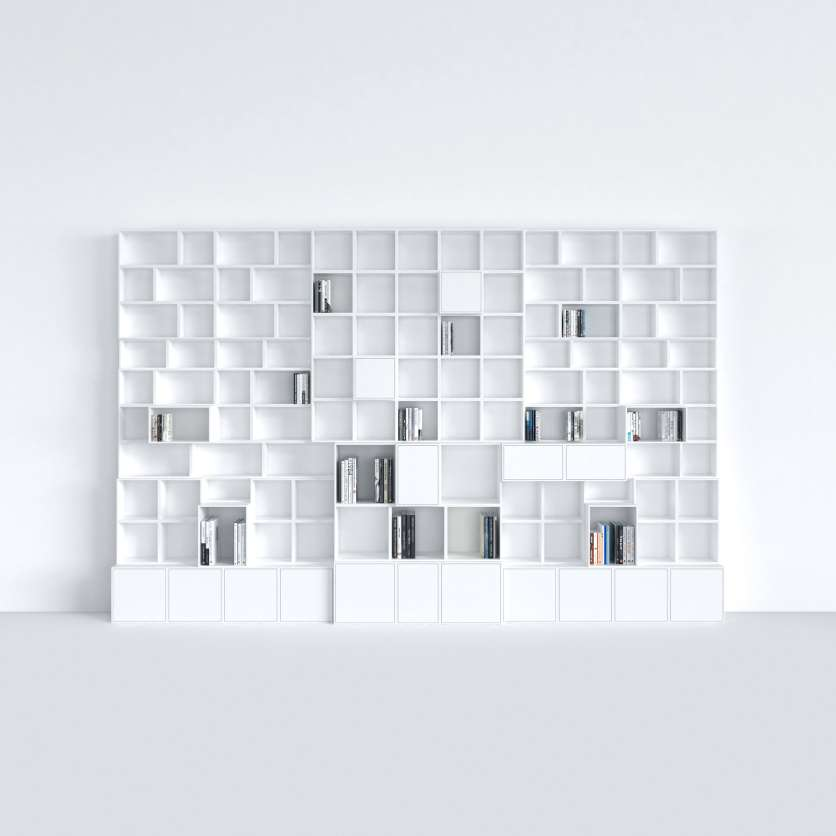 As if it were made to measure: modular book shelving in white
