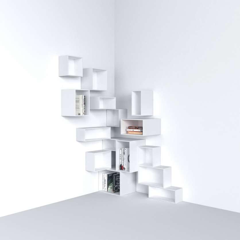 Stylish corner shelving system