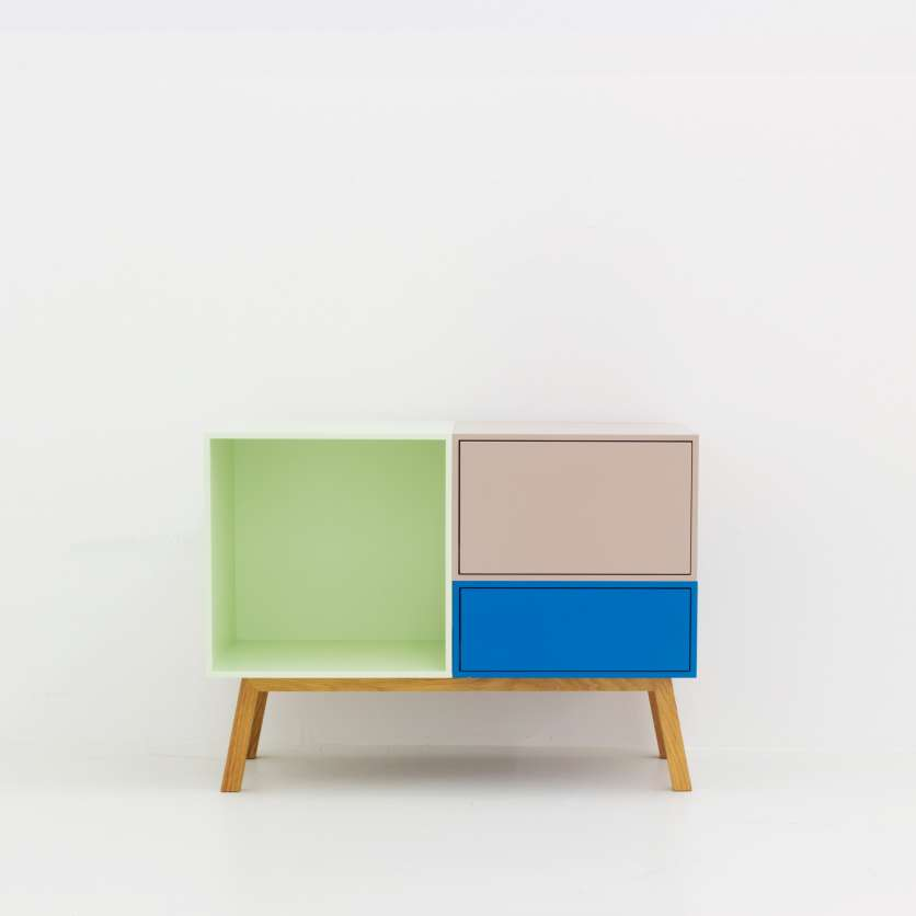 Get in the mood: the colourful retro sideboard