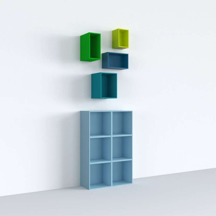 Colourful shelving cube for child's room