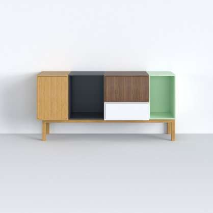 Inspired by mosaics: sideboard with base frame as a practical piece of furniture