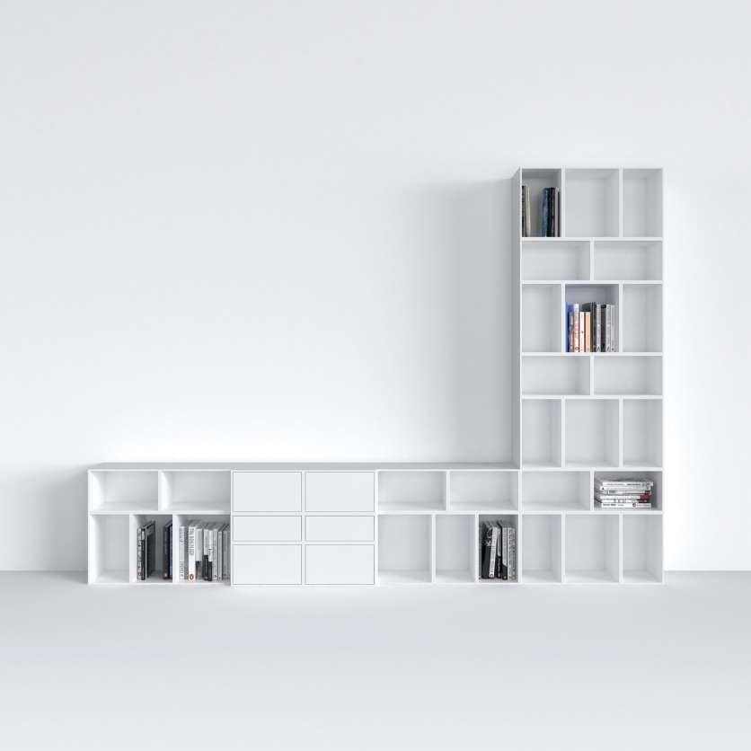 TV unit in white