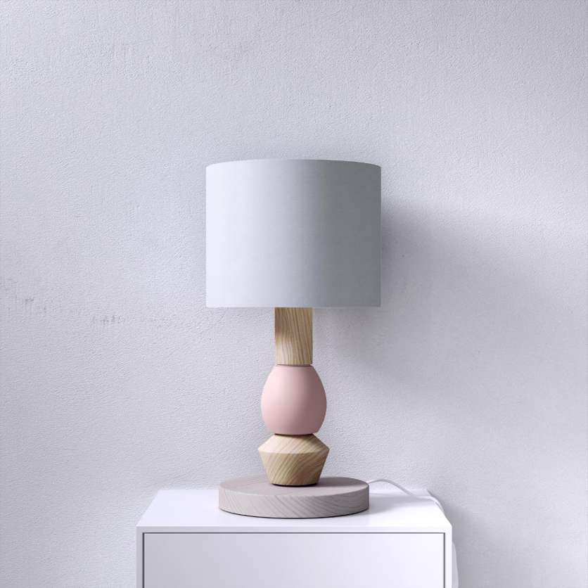 Bedside lamp made of wood