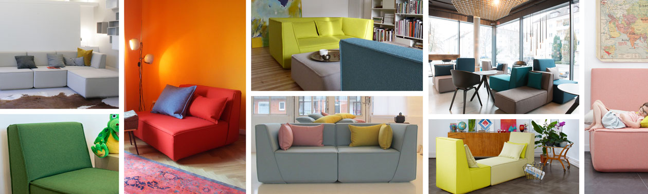 Sofa system in different variations