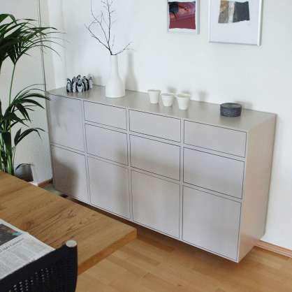 Grey suspended sideboard