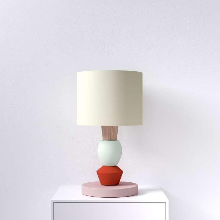 Lampada da tavolo modulare con accento rosso
