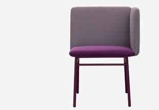 Chair in violett with side rest