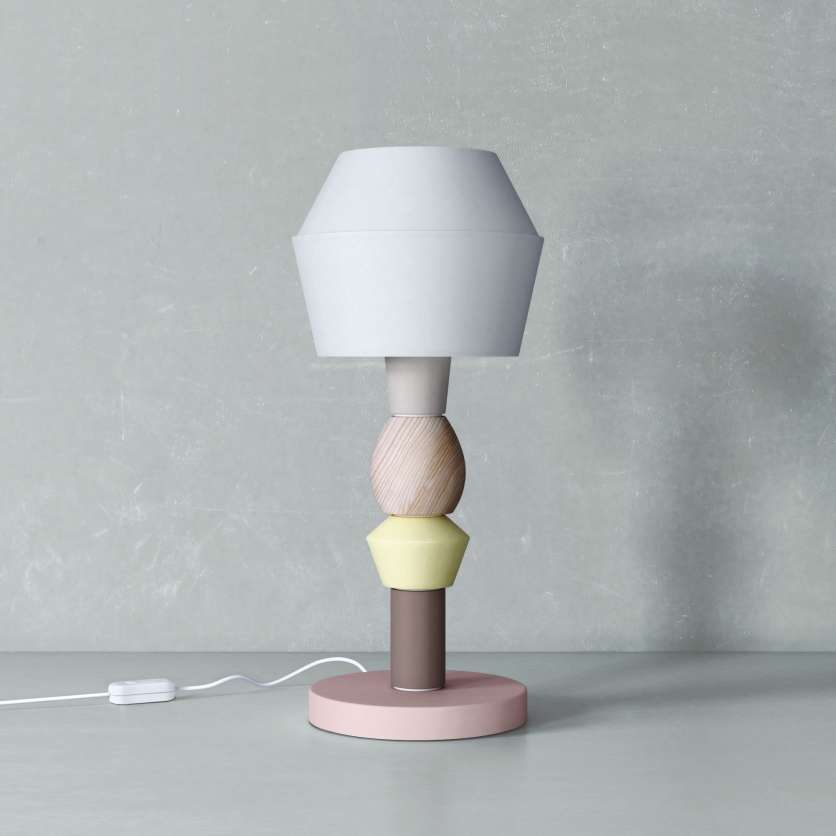 Table lamp in totem design