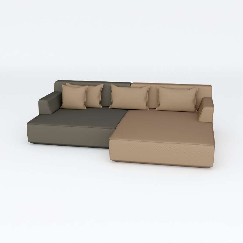 Extra deep: 2-seater in L-shape by Cubit®