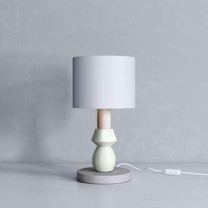 Nachttischlampe grün und grau
