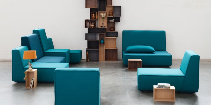 For every body size: blue sofas in many sizes