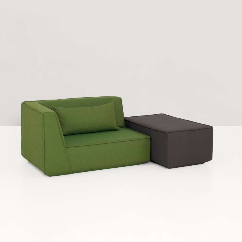 Corner module and ottoman forming a cool combination