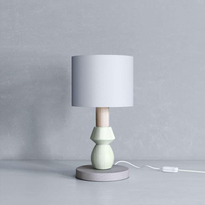 Lampe avec base grise et abat-jour gris