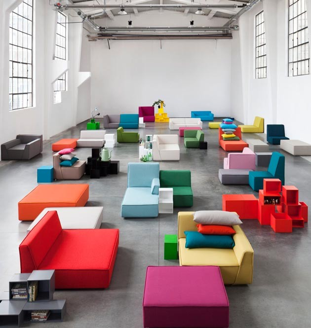 Design furniture from different modules