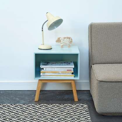 Sofa side table in shades of pastel