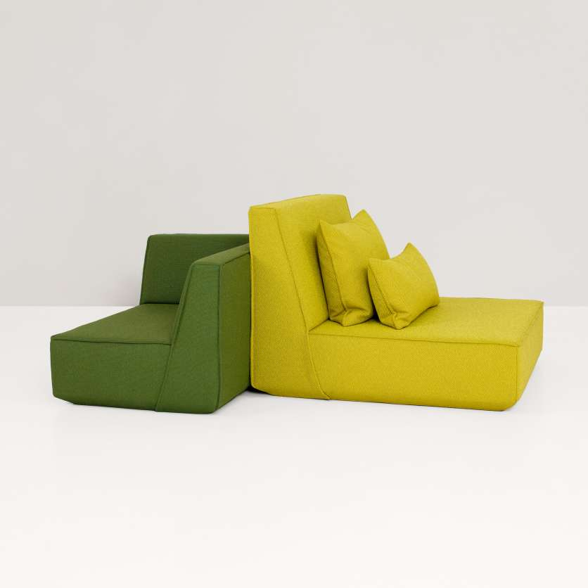 Enjoy maximum relaxation with chaise longue and corner module