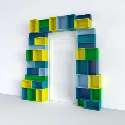 Système d étagères flexible pour portes