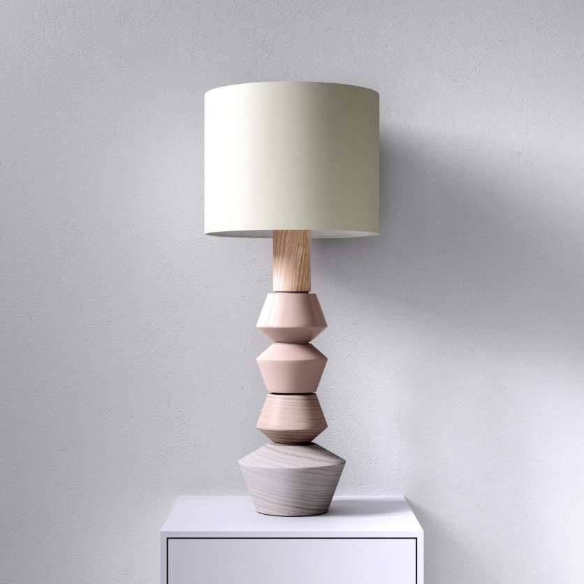 Table lamp delicate and feminine