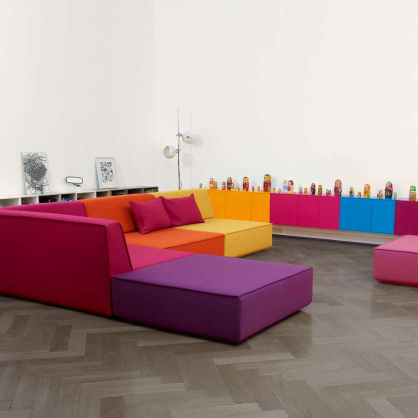 Colourful sofa ensemble