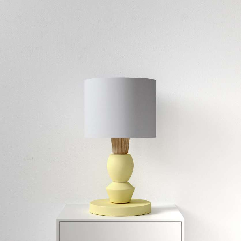 Table lamp in vivid yellow