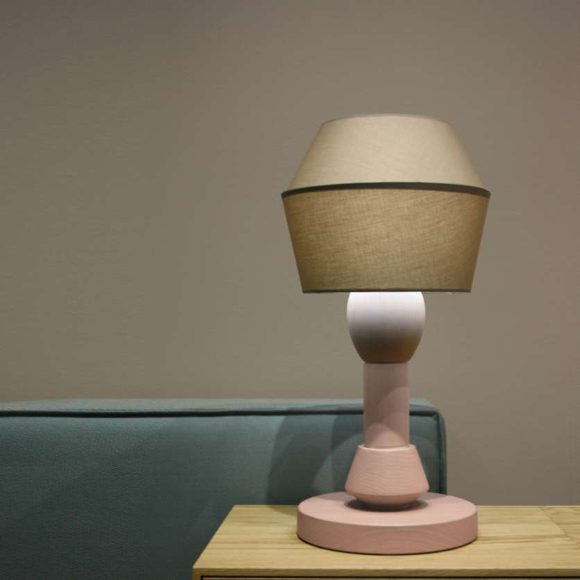 Exceptional modular table lamp