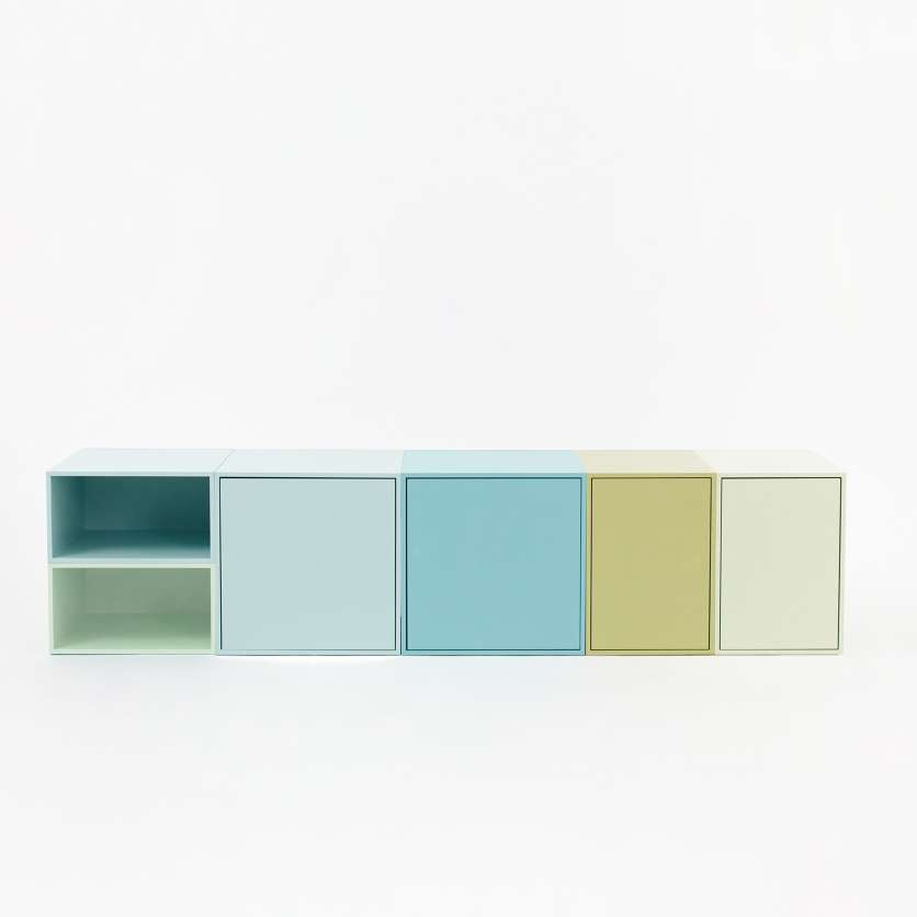 Suspended adaptable sideboard 1.75 m, in shades of pastel