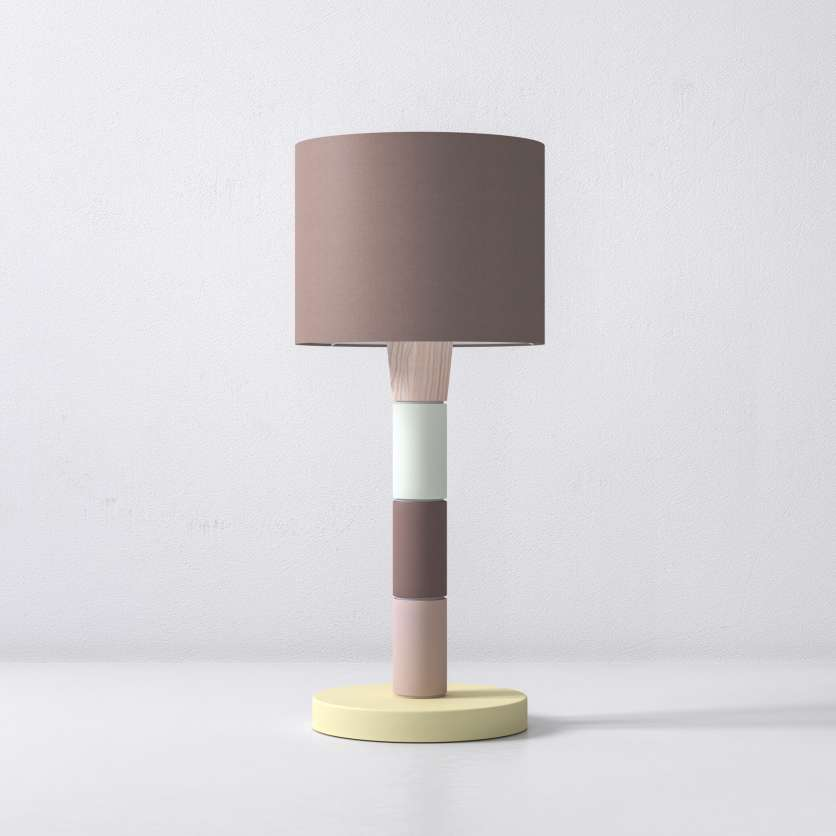 Table lamp with cheerful, colourful modules