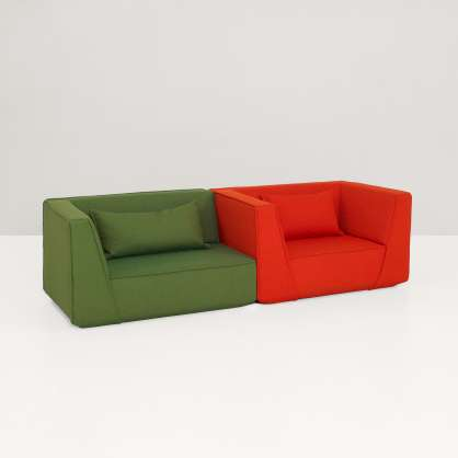 Sessel–Duo im Komplementär–Kontrast