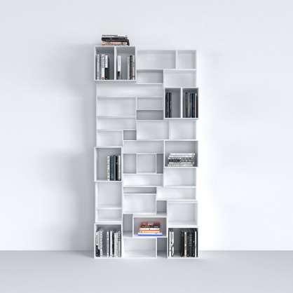 Système d étagères modulaire blanc laqué