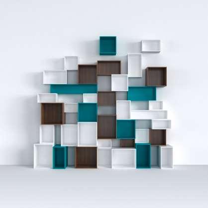 Système d étagères élégant en différentes couleurs