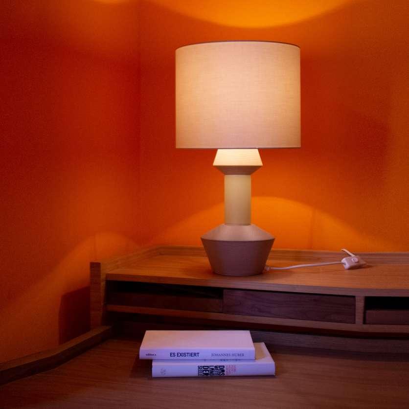 Unusual modular table lamp
