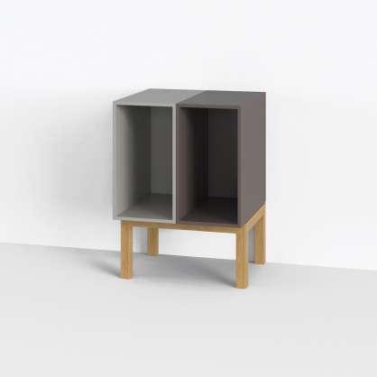 Spielt mit: das Sideboard aus zwei Modulen für LPs