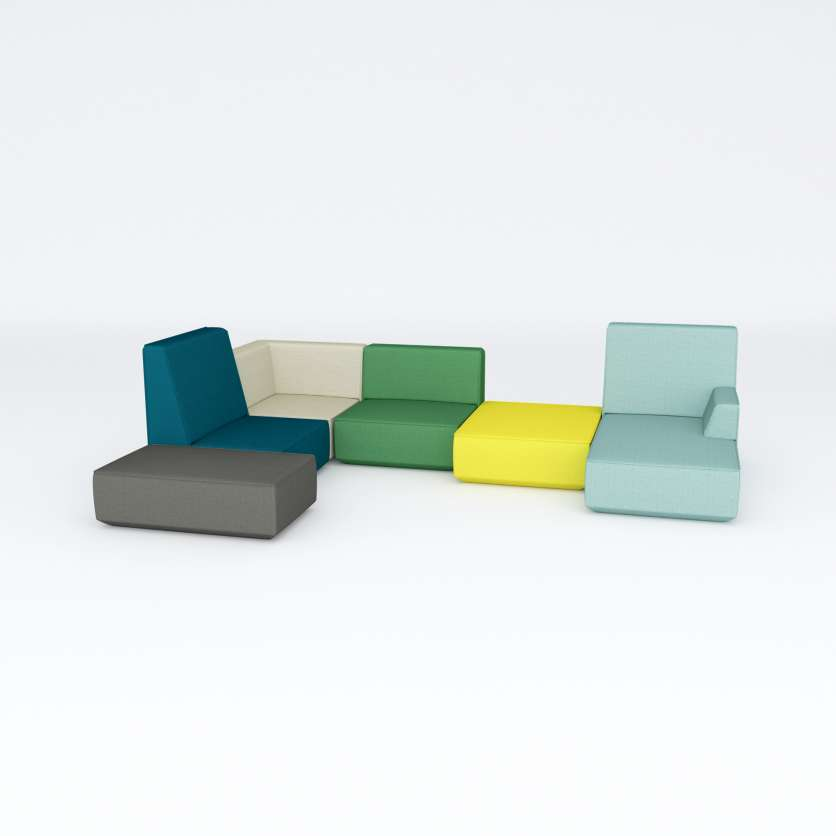 Individual sofa ensemble with strong character