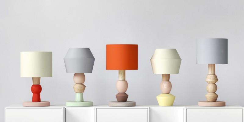 Modulare Lampe in verschiedenen Variationen