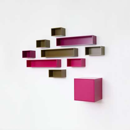 Schwebendes Wandregal zur Aufbewahrung von CDs