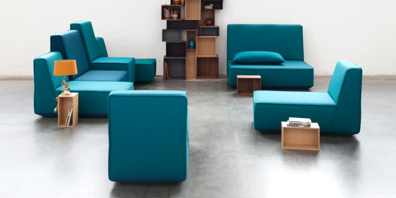 Sofamodule in blau