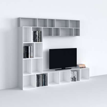 Shelving system for the TV