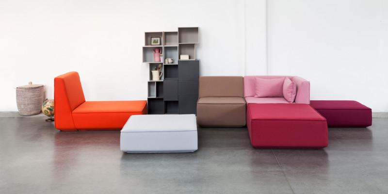 Sofa aus verschiedenen Modulen
