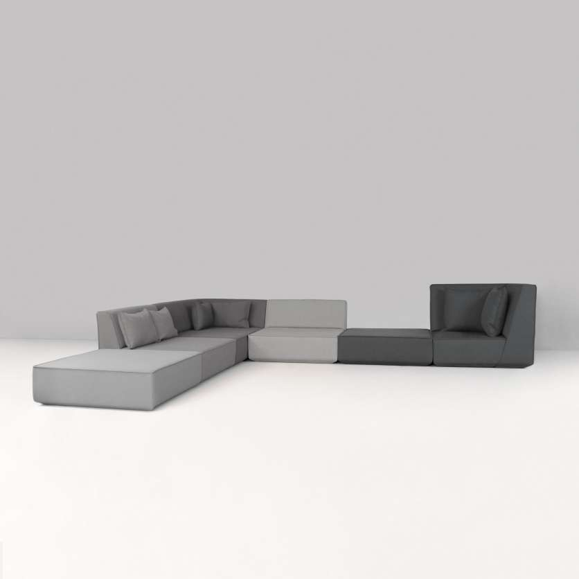 50 shades of grey: modern sofa ensemble in grey