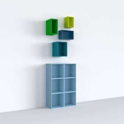 Des étagères en cubes multicolores pour une chambre d enfant