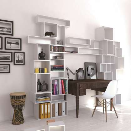 Scaffale bianco home office